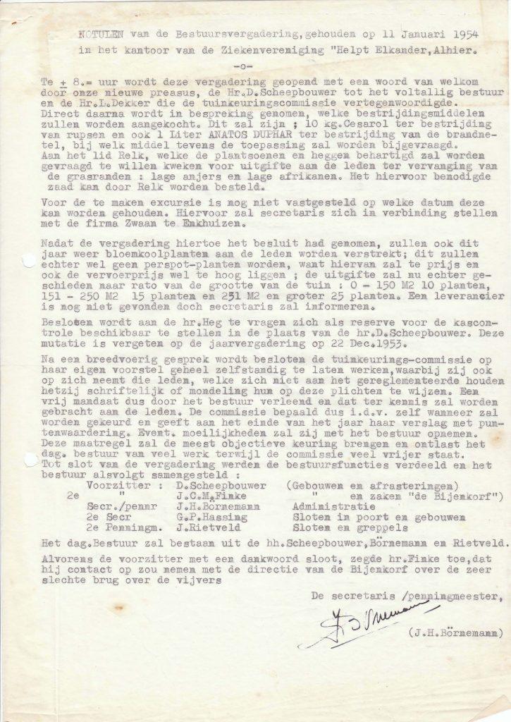 1954 Notulen bestuur